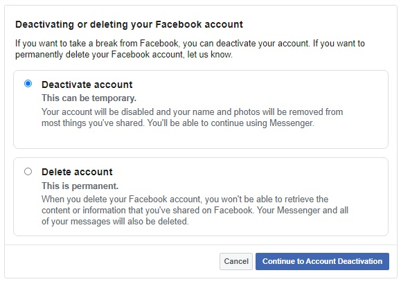 facebook delete account 1