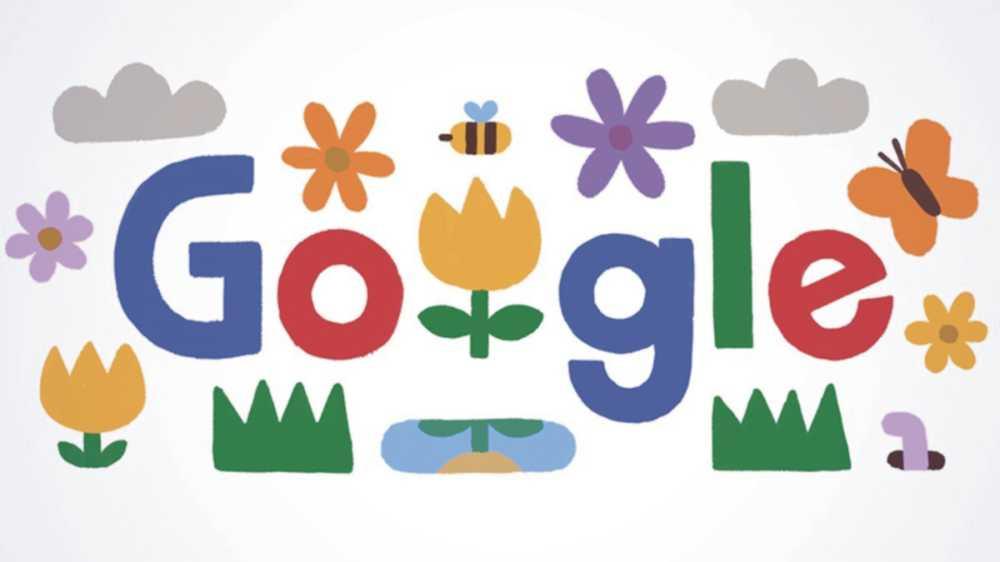 google doodle spring season 2021