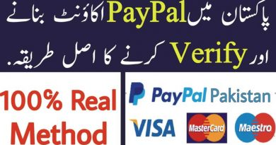 paypal verifed account pakistan