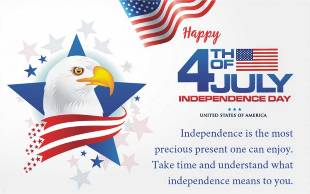 Happy Independence Day USA card