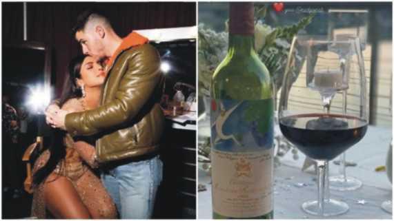 Nick Jonas Birthday Wine Bottle - priyanka chopra