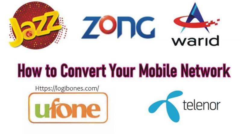 how to convert sim network -- Zong Telenor Jazz Ufone